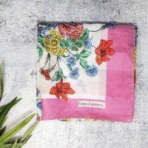 Vintage Franco Laurenti | Floral Square Scarf